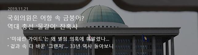 국회의원은 어항 속 금붕어? 역대 총선 '물갈이' 잔혹사
